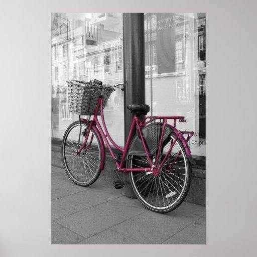 Bicicleta rosada poster