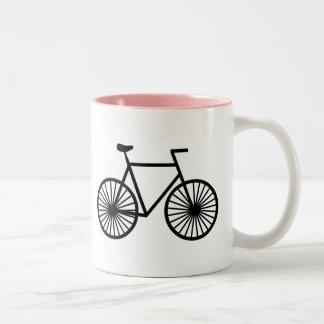 Bicicleta rosada tazas de café
