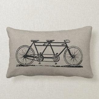 Bicicleta rústica del tándem del vintage cojín