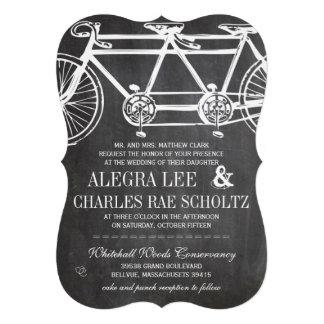 Bicicleta rústica del vintage de la pizarra de la