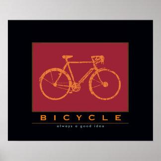 bicicleta, siempre una buena idea póster