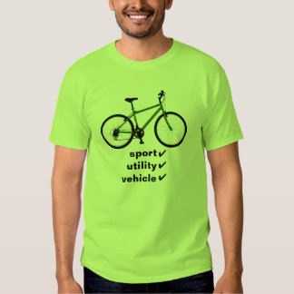 bicicleta: vehículo utilitario del deporte camisas