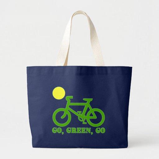Bicicleta verde bolsas
