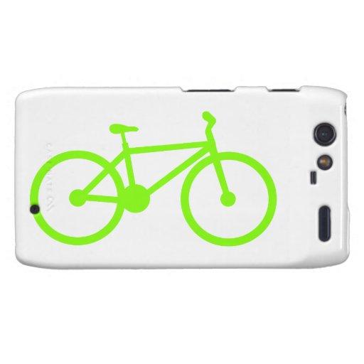 Bicicleta verde chartreuse, de neón droid RAZR carcasa