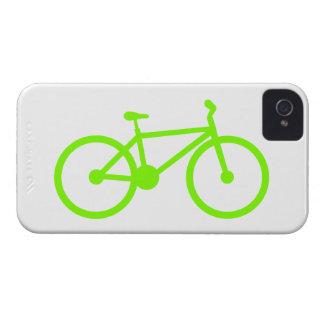 Bicicleta verde chartreuse de neón iPhone 4 coberturas