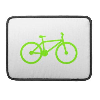 Bicicleta verde chartreuse, de neón funda macbook pro