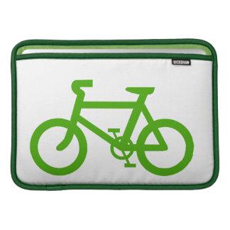 Bicicleta verde de Eco Funda Para Macbook Air