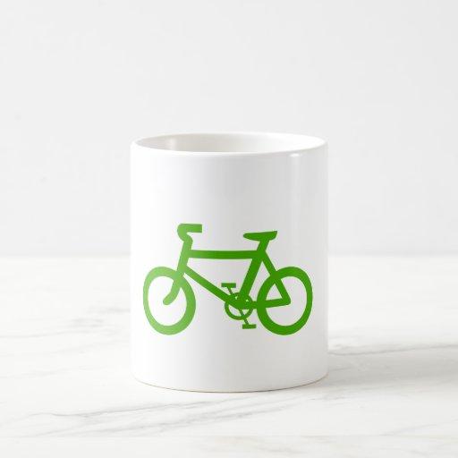 Bicicleta verde de Eco Taza