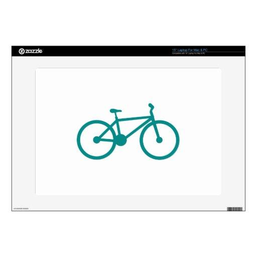 Bicicleta verde del trullo skins para 38,1cm portátil