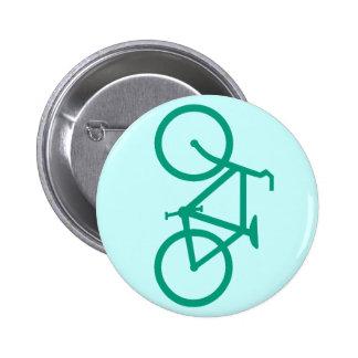 Bicicleta verde grande pin redondo de 2 pulgadas