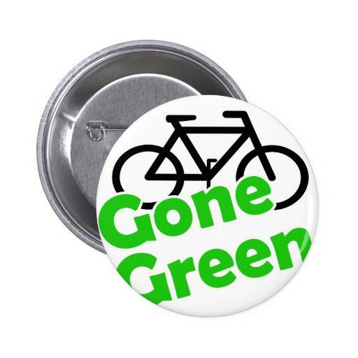 bicicleta verde ida pin redondo de 2 pulgadas