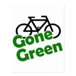bicicleta verde ida postales