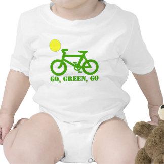 Bicicleta verde trajes de bebé