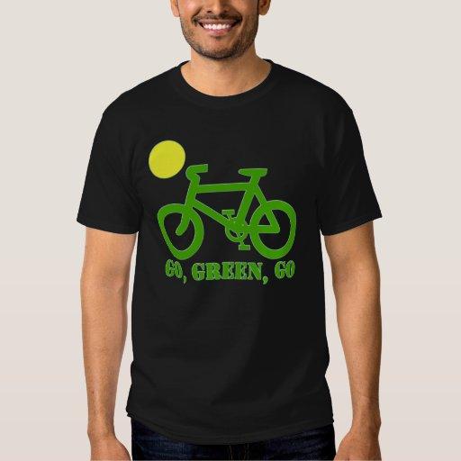 Bicicleta verde poleras