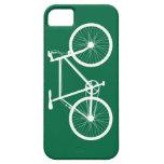 Bicicleta verde y blanca iPhone 5 Case-Mate carcasa