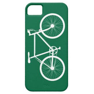 Bicicleta verde y blanca iPhone 5 funda