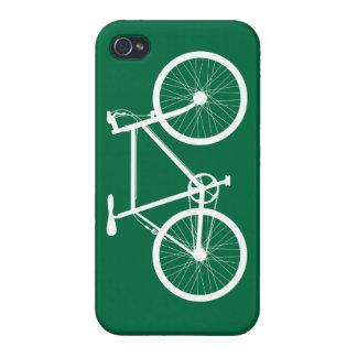 Bicicleta verde y blanca iPhone 4 funda