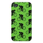 Bicicleta verde y negra Pern. iPhone 4 Fundas