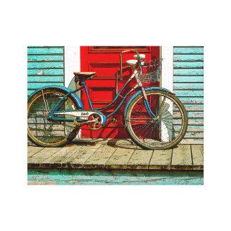 "Bicicleta vieja 14"" x 11"", 1,5"", solo impresión en lona"