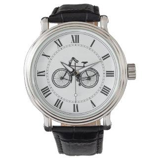 Bicicleta vieja reloj de mano