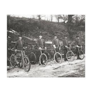 Bicicleta y motocicleta Police, 1915. Foto del Impresiones De Lienzo