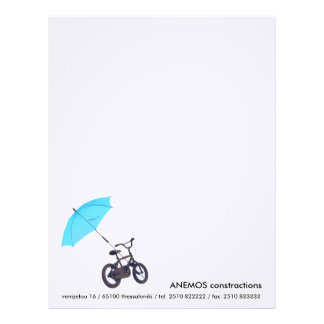 bicicleta y paraguas membrete