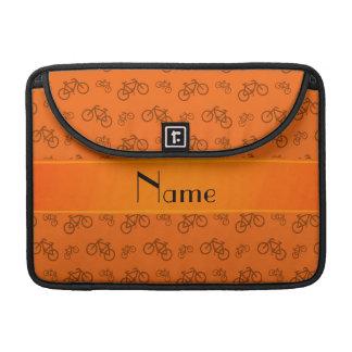 Bicicletas anaranjadas conocidas personalizadas fundas para macbook pro
