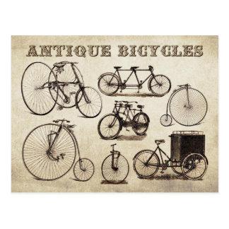 Bicicletas antiguas (velocípedos) postal