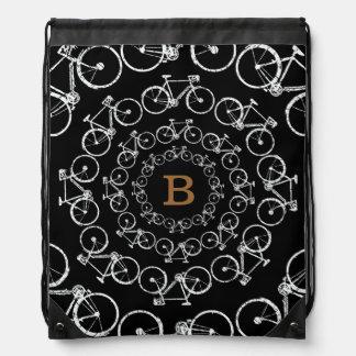 bicicletas circulares con la letra de B Mochila