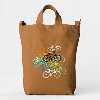 Bicicletas coloreadas bolsa de lona duck