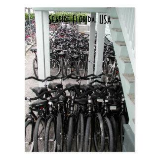 Bicicletas de la Florida de la playa Tarjetas Postales