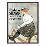 Bicicletas de las popas de Nouveau del arte del vi Tarjetas Postales