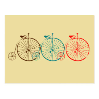Bicicletas del comino del penique tarjetas postales