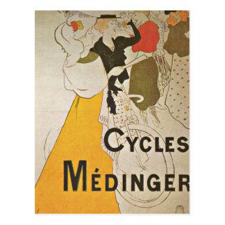 Bicicletas del montar a caballo en París Francia Tarjeta Postal