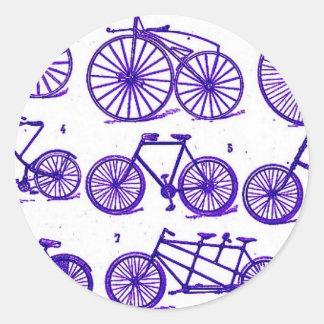 Bicicletas del vintage pegatina redonda