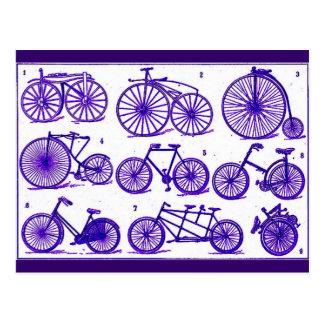 Bicicletas del vintage tarjeta postal