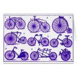 Bicicletas del vintage tarjetas