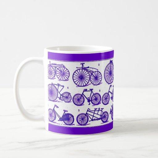 Bicicletas del vintage taza de café