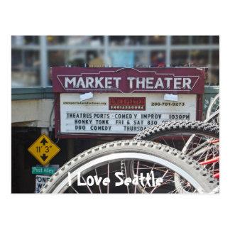 Bicicletas en el teatro tarjetas postales