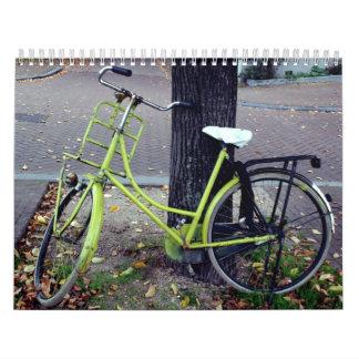 Bicicletas en Holanda Calendario De Pared