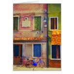 Bicicletas en tarjeta de felicitación de Burano It