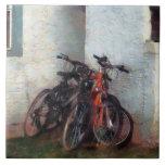 Bicicletas en yarda tejas