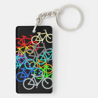 Bicicletas Llavero Rectangular Acrílico A Doble Cara