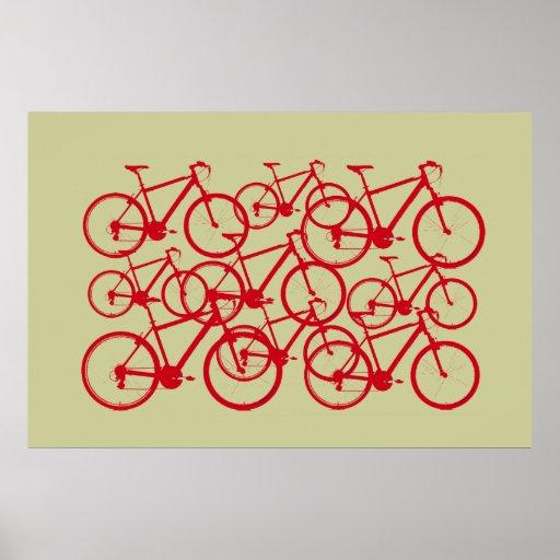 bicicletas múltiples póster