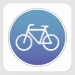 Bicicletas no prohibidas la muestra calcomanías cuadradass personalizadas