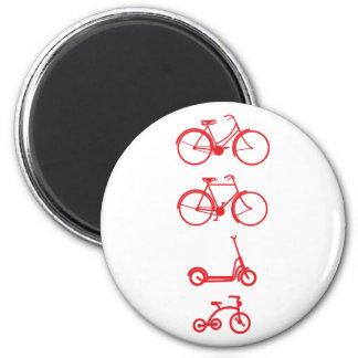 Bicicletas patinetas de bicycles scooter imán redondo 5 cm