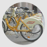 Bicicletas públicas pegatina redonda