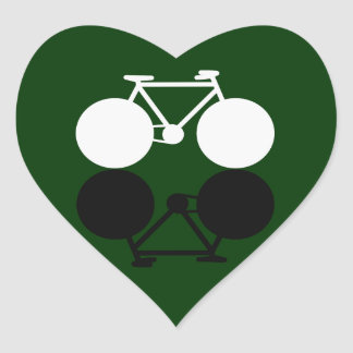 bicicletas que ponen en contraste gráficas pegatina en forma de corazón