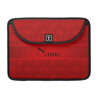 Bicicletas rojas conocidas personalizadas fundas macbook pro