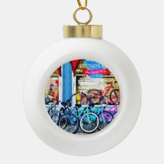 Bicicletas y chocolate adorno